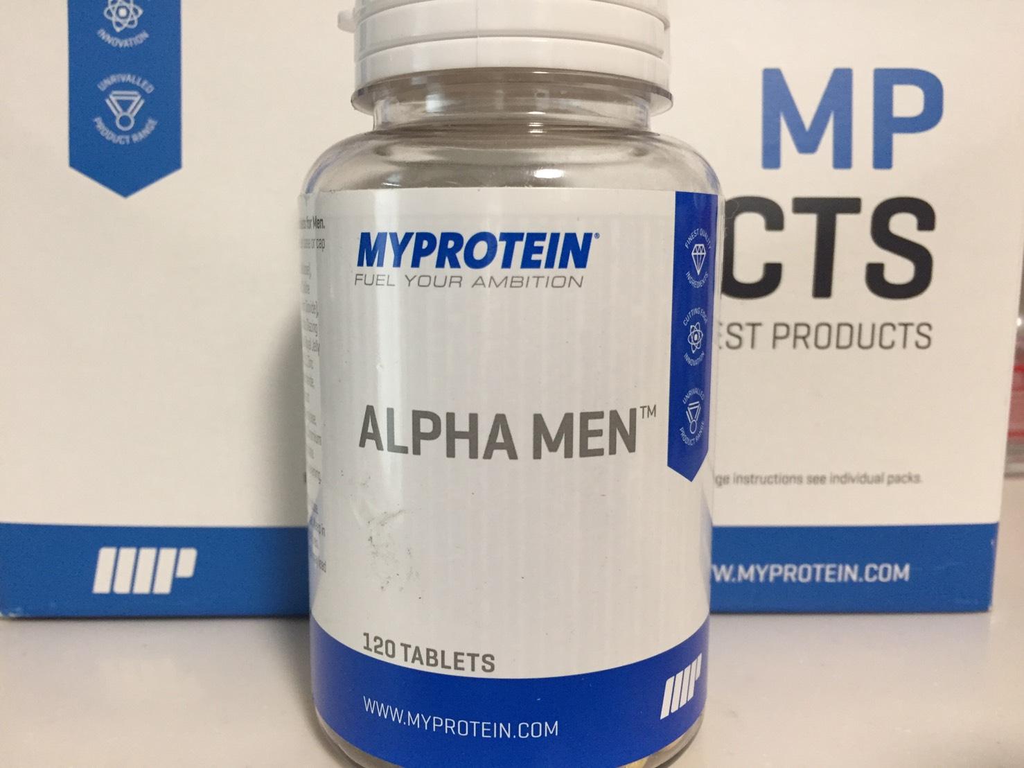アルファ・メンはポット型の容器に入っています。これは120錠タイプです。