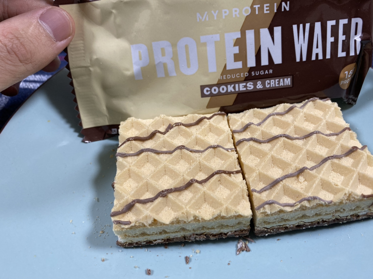 プロテインウエハース:クッキー&クリーム味