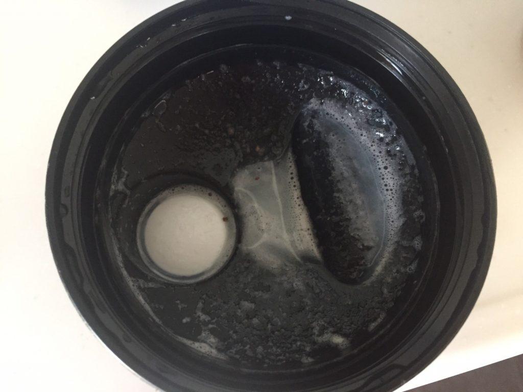 Stracciatella(ストラッチャテッラ味)を溶かした蓋側がこちら。