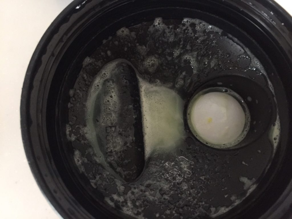 Banana Stevia Flavour(バナナステビア味)を溶かした蓋側