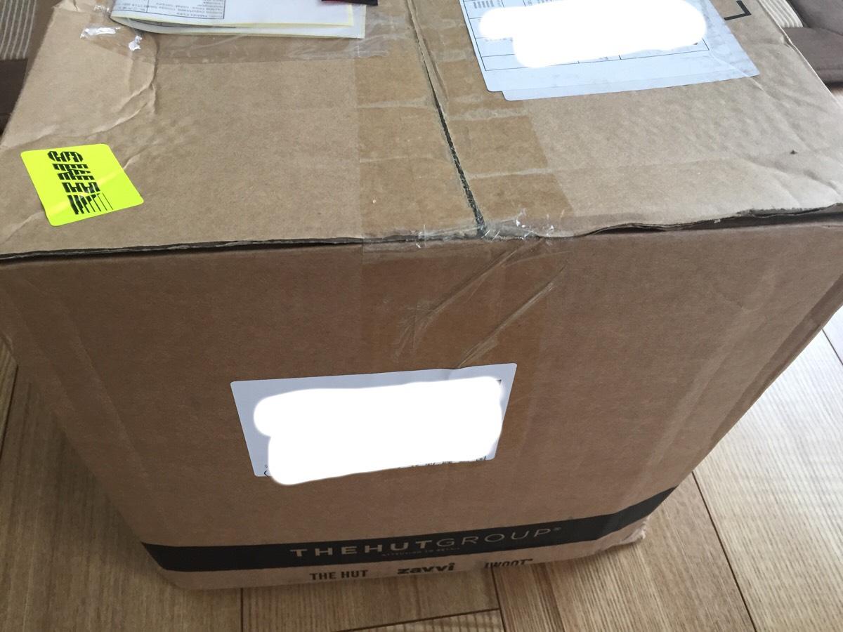 マイプロテイン梱包の様子:側面
