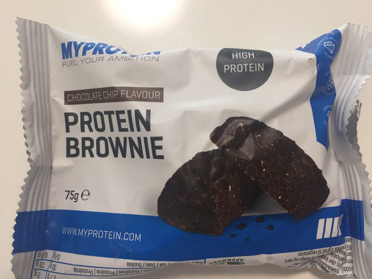 プロテイン・ブラウニー(Protein Brownie)「CHOCOLATE CHIP FLAVOUR(チョコレート味)」