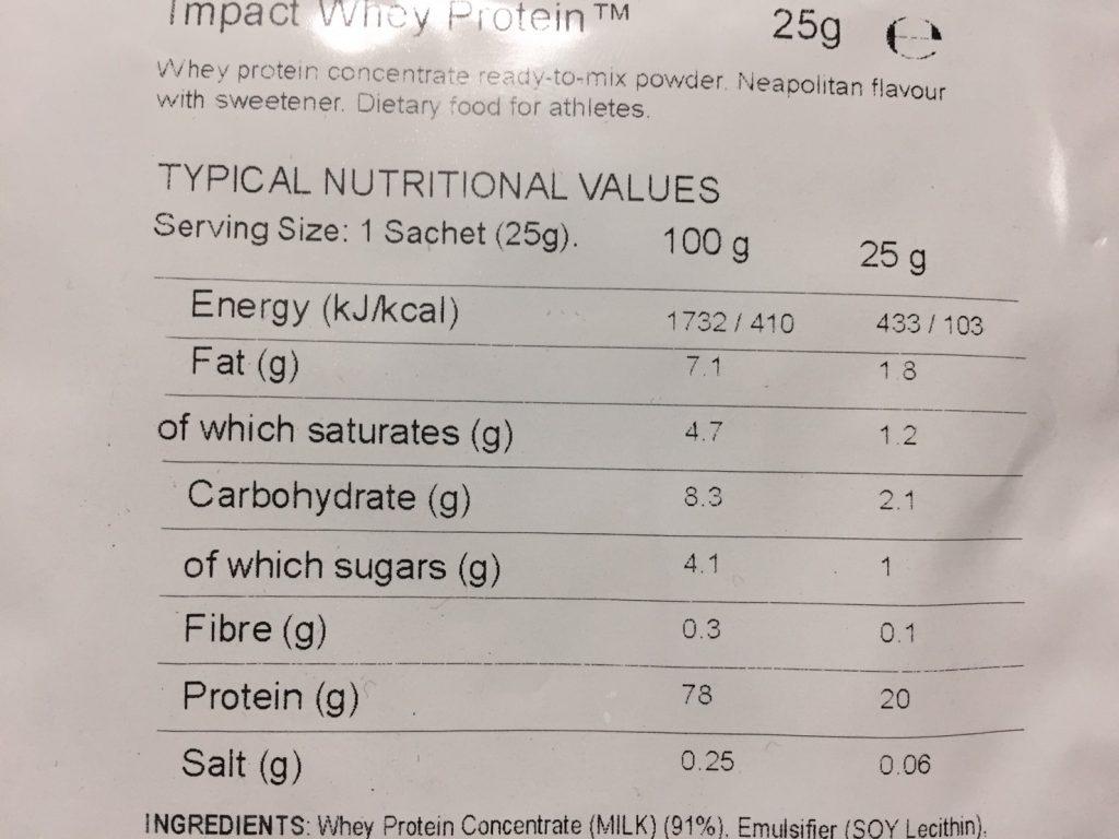 Neapolitan Flavour(ナポリタン味)の成分表