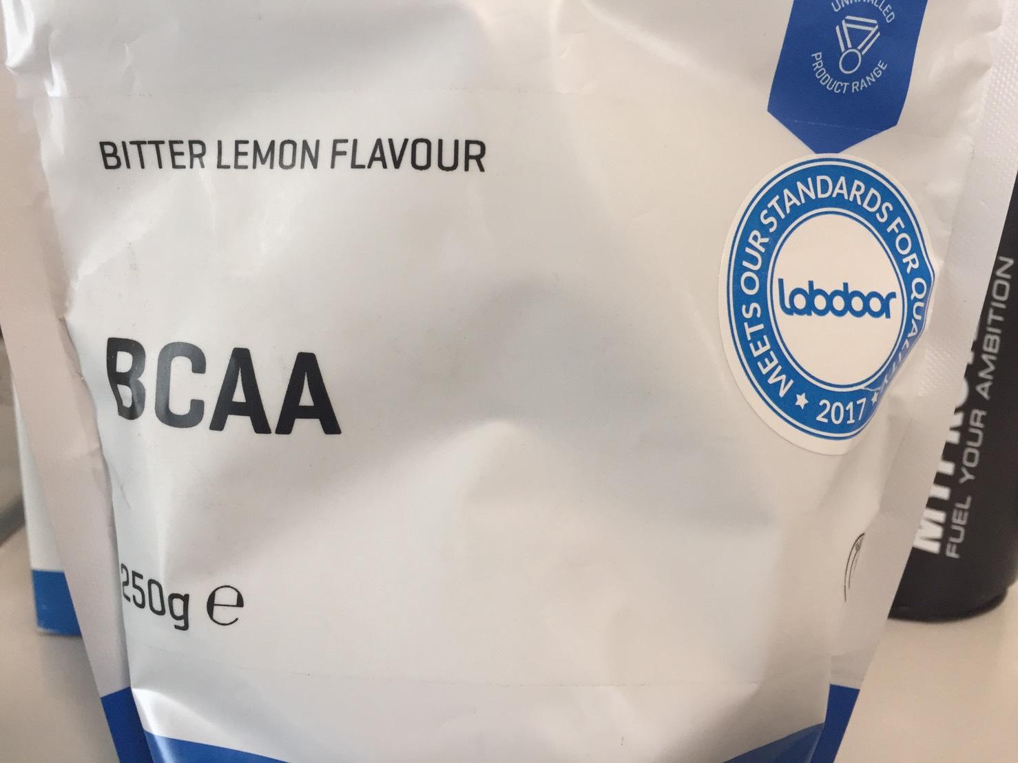 BCAA「ビターレモン味(BITTER LEMON)」