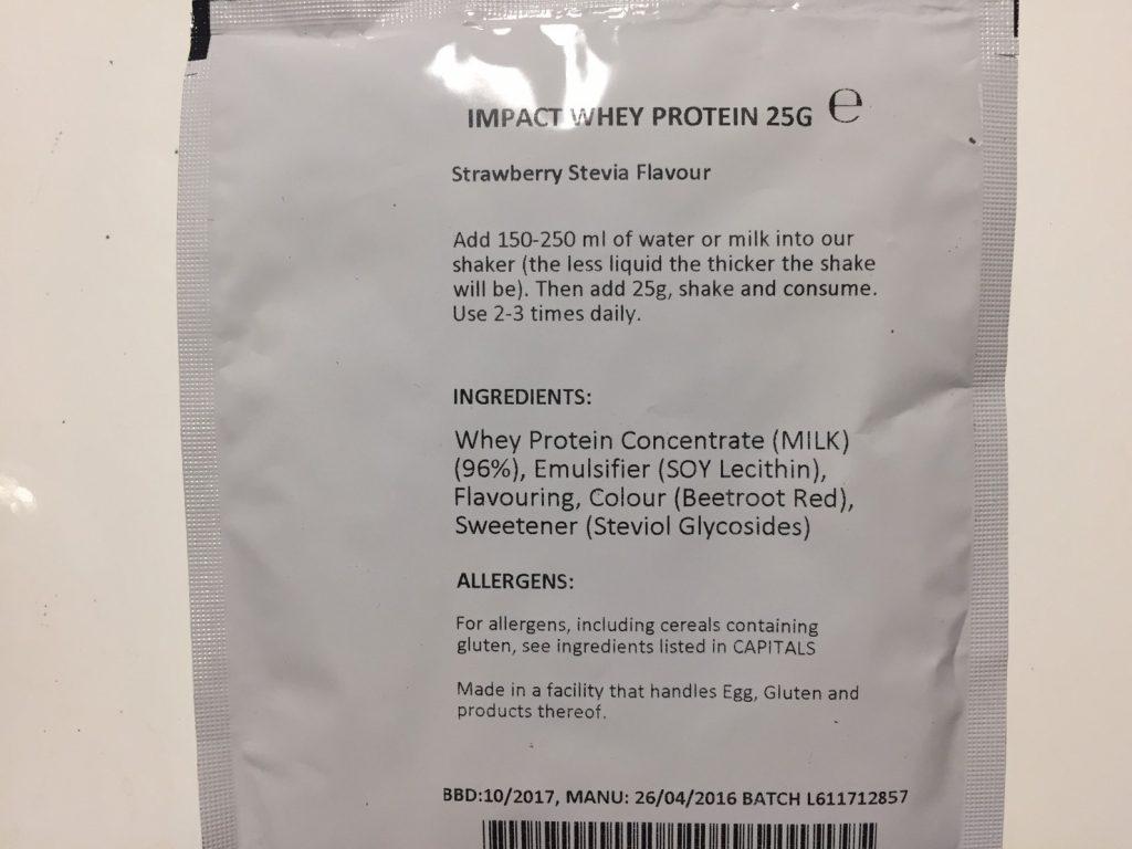 Strawberry Stevia Flavour(ストロベリーステビア味)の成分表