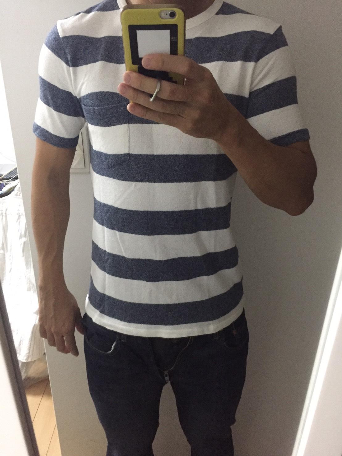 Tシャツは長さが足りなくなりました。