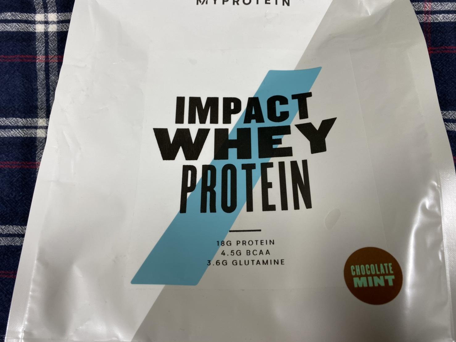 Impactホエイプロテイン:チョコミント味