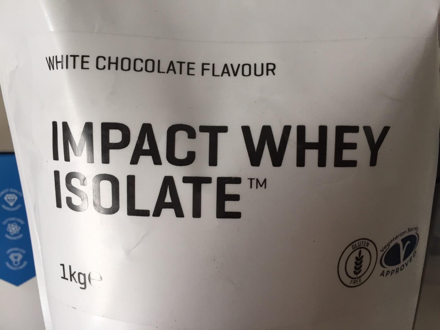【WPI】IMPACT 分離ホエイプロテイン (アイソレート)「WHITE CHOCOLATE FLAVOUR(ホワイトチョコレート味)」