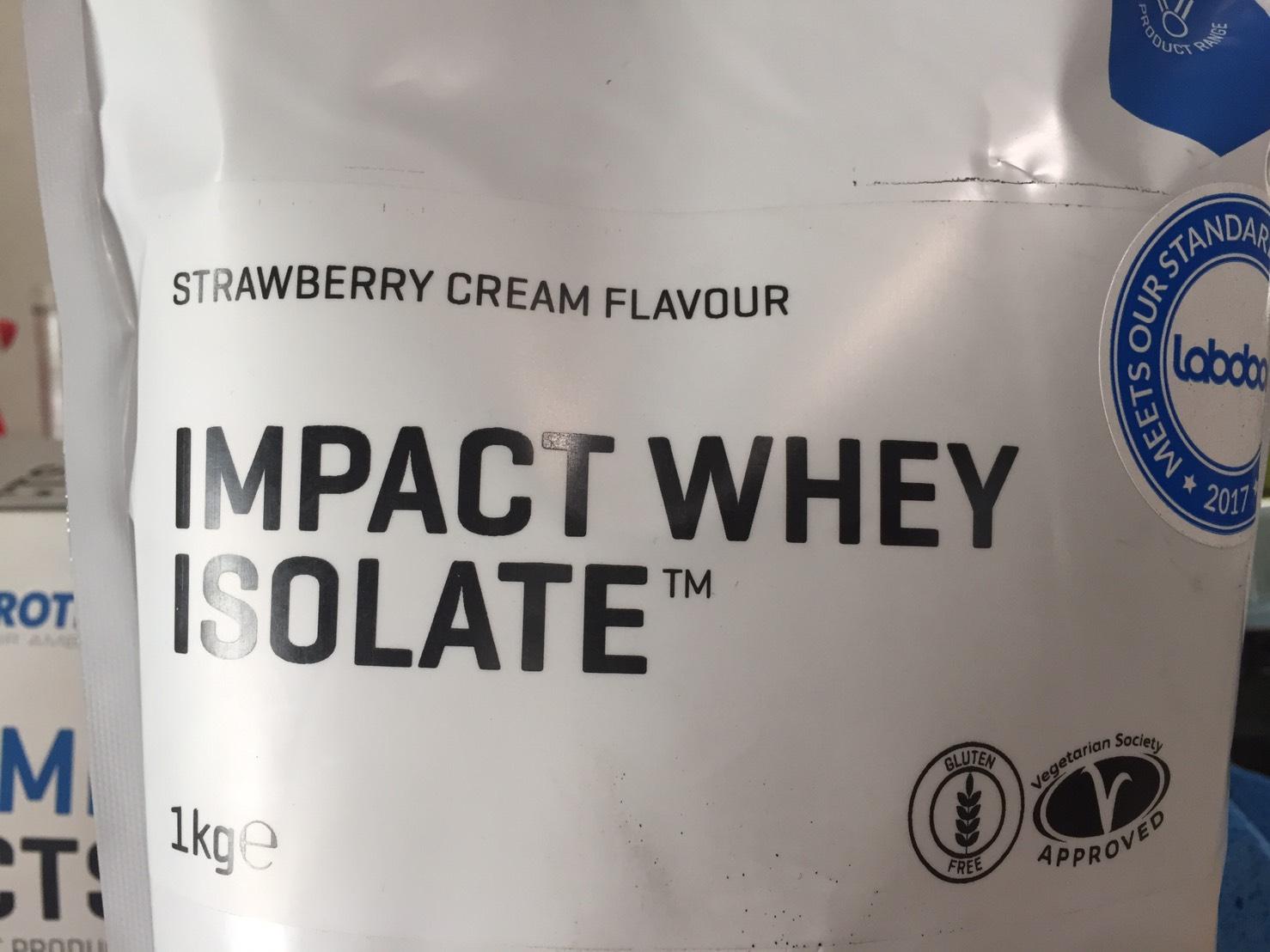 【WPI】IMPACT 分離ホエイプロテイン (アイソレート)「STRAWBERRY CREAM FLAVOUR(ストロベリークリーム味)」