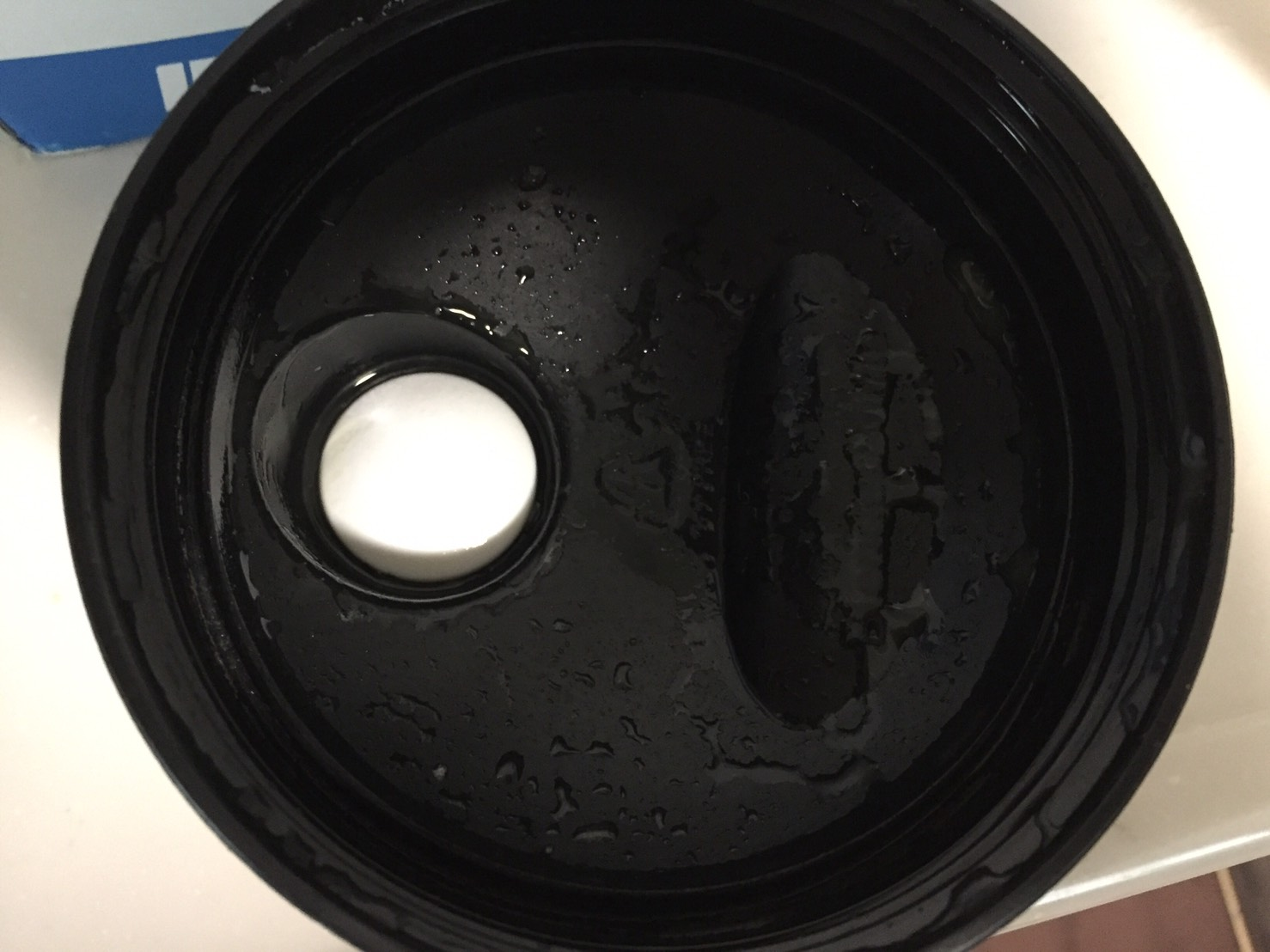 【WPI】IMPACT 分離ホエイプロテイン (アイソレート)「MATCHA FLAVOUR(抹茶味)」を飲み終えた様子。蓋側