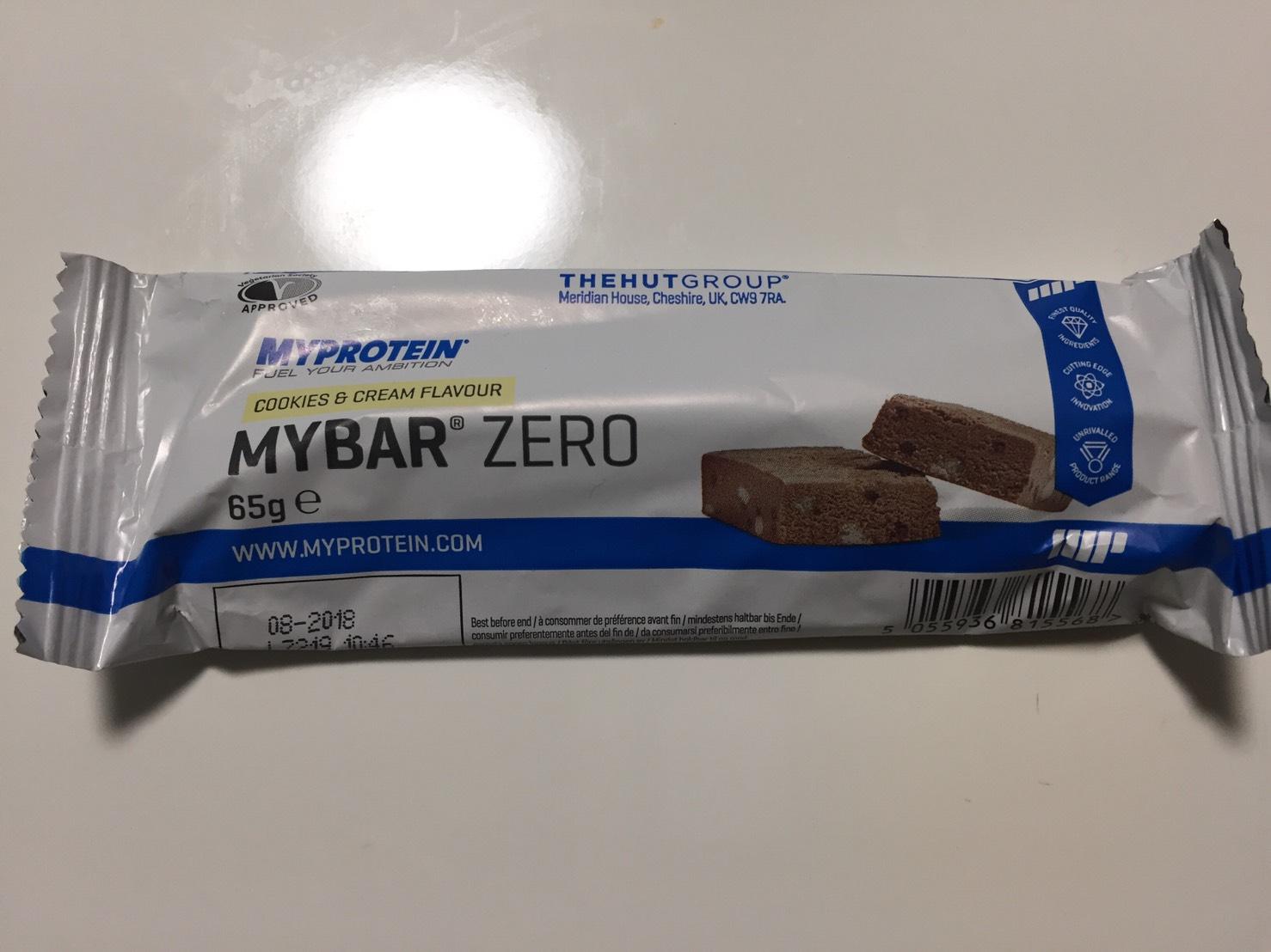 MY BAR ZERO(マイバー・ゼロ)「COOKIES & CREAM FLAVOUR(クッキー&クリーム味)」の成分表