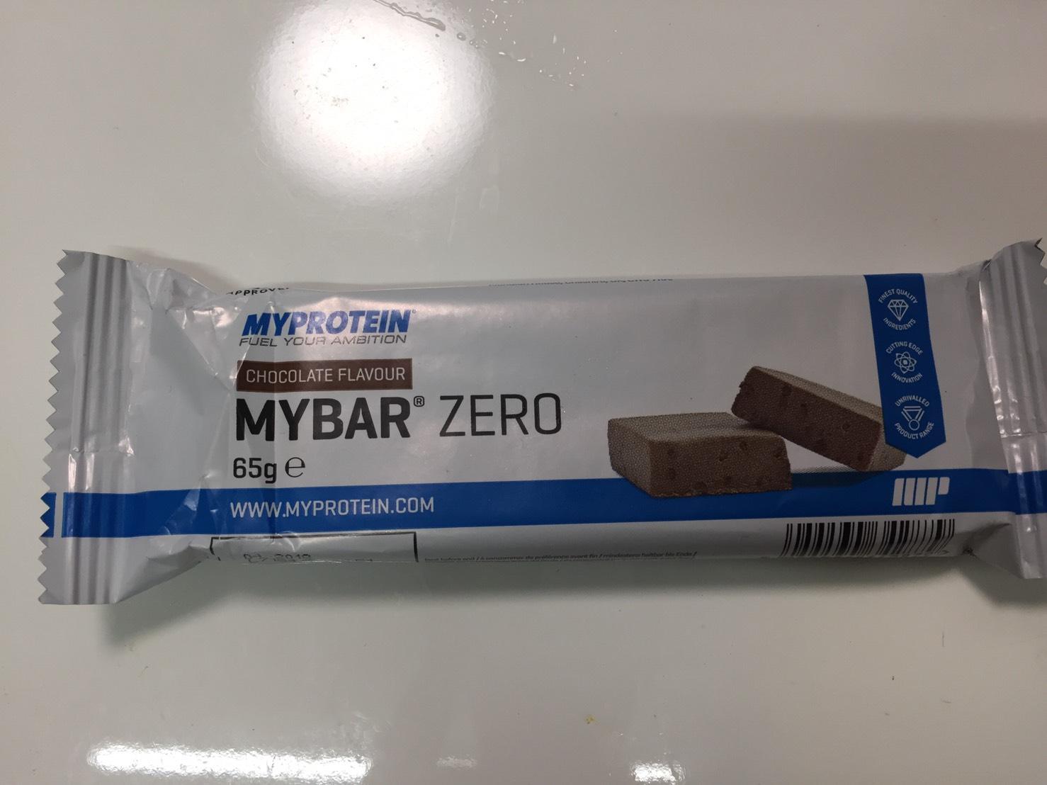 MY BAR ZERO(マイバー・ゼロ)「CHOCOLATE FLAVOUR(チョコレート味)」の成分表