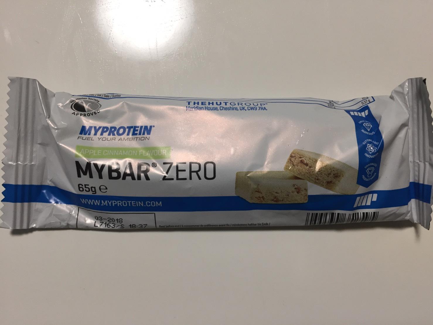 MY BAR ZERO(マイバー・ゼロ)「APPLE CINNAMON FLAVOUR(アップルシナモン味)」の成分表
