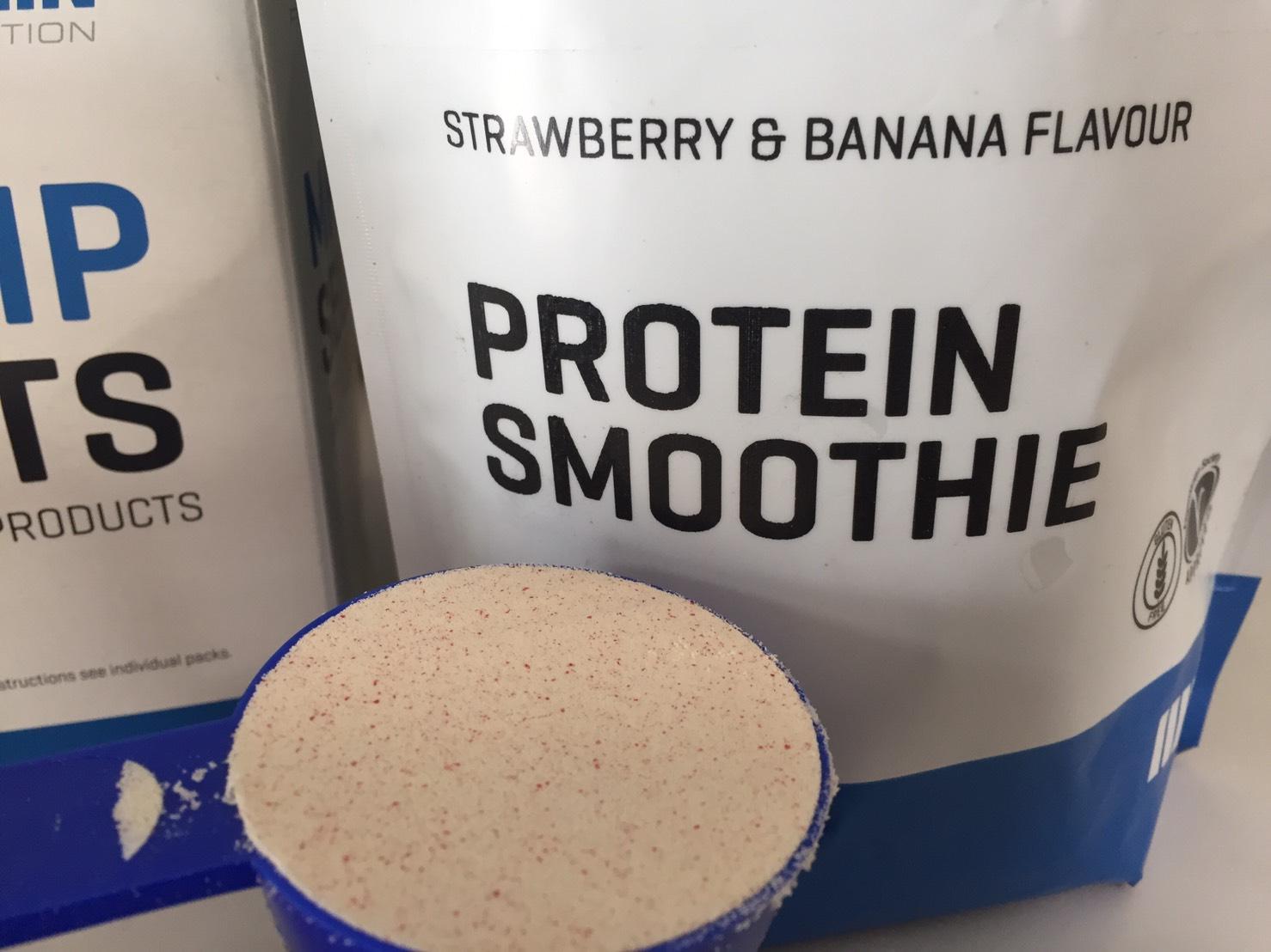 Protein Smoothie(プロテイン・スムージー)「STRAWBERRY & BANANA FLAVOUR(ストロベリー&バナナ味)」