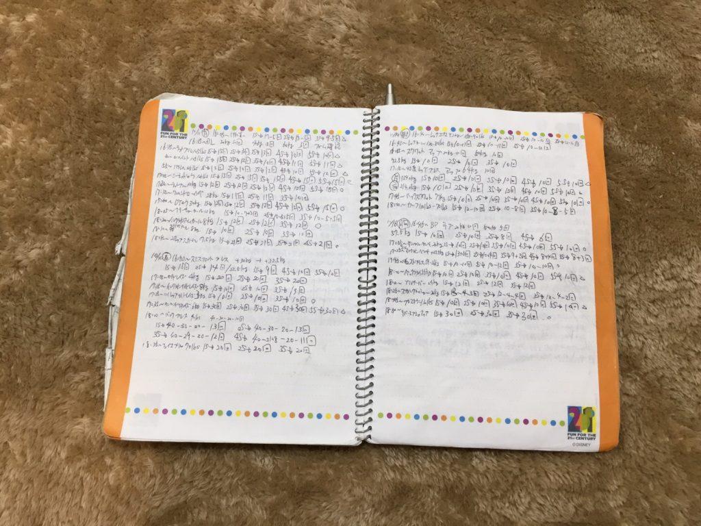 トレーニング用ノート
