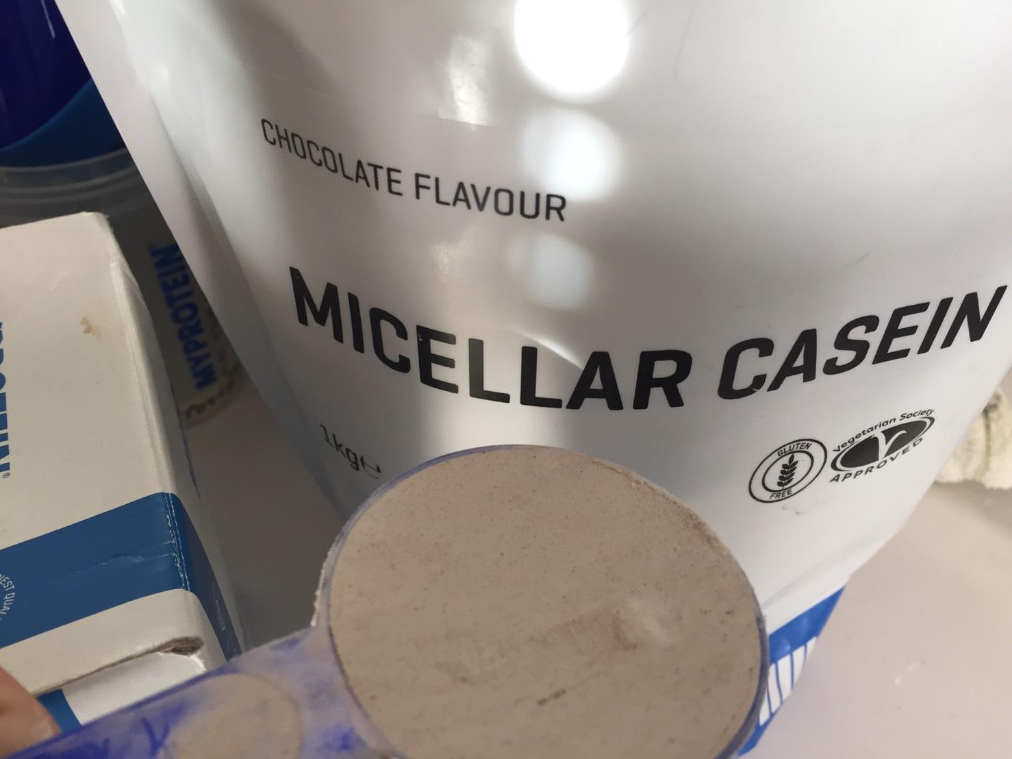 カゼインミセル「CHOCOLATE FALVOUR(チョコレート味)」の摺り切り一杯