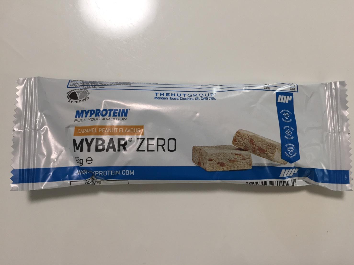 MY BAR ZERO(マイバー・ゼロ)「CARAMEL PEANUT FLAVOUR(キャラメルピーナッツ味)」の成分表
