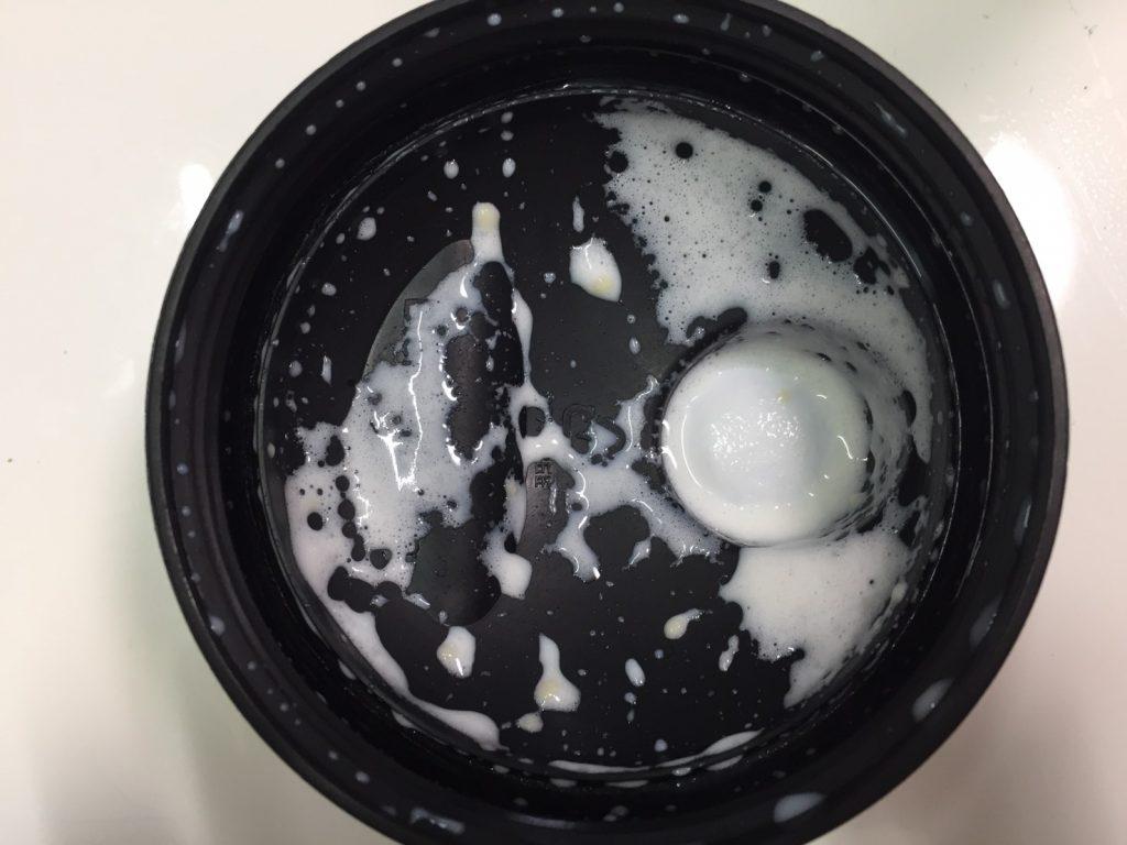 【WPC】Impactホエイプロテイン「COCONUT(ココナッツ味)」を飲み終えた様子。蓋側