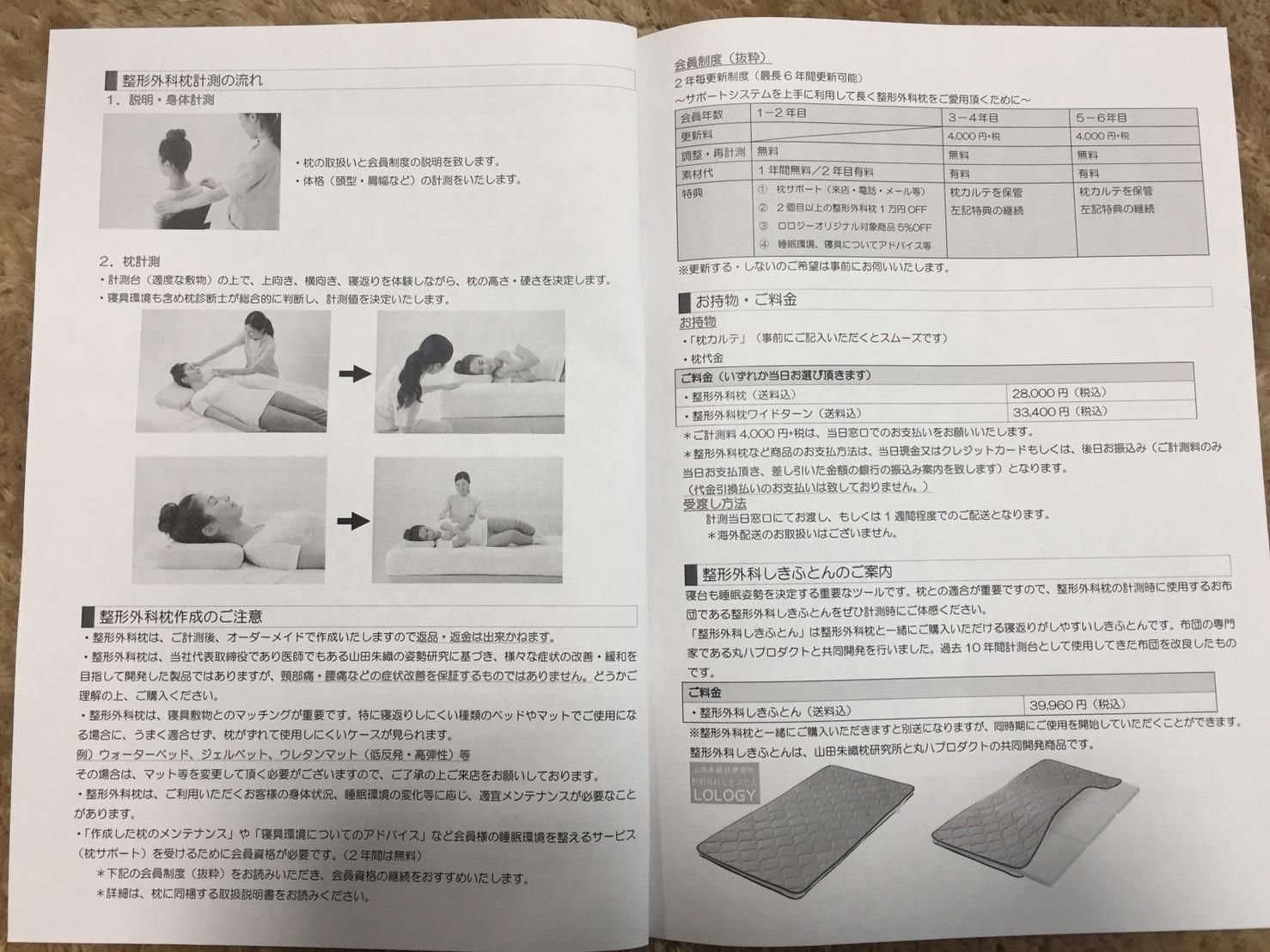 整形外科枕計測のご案内