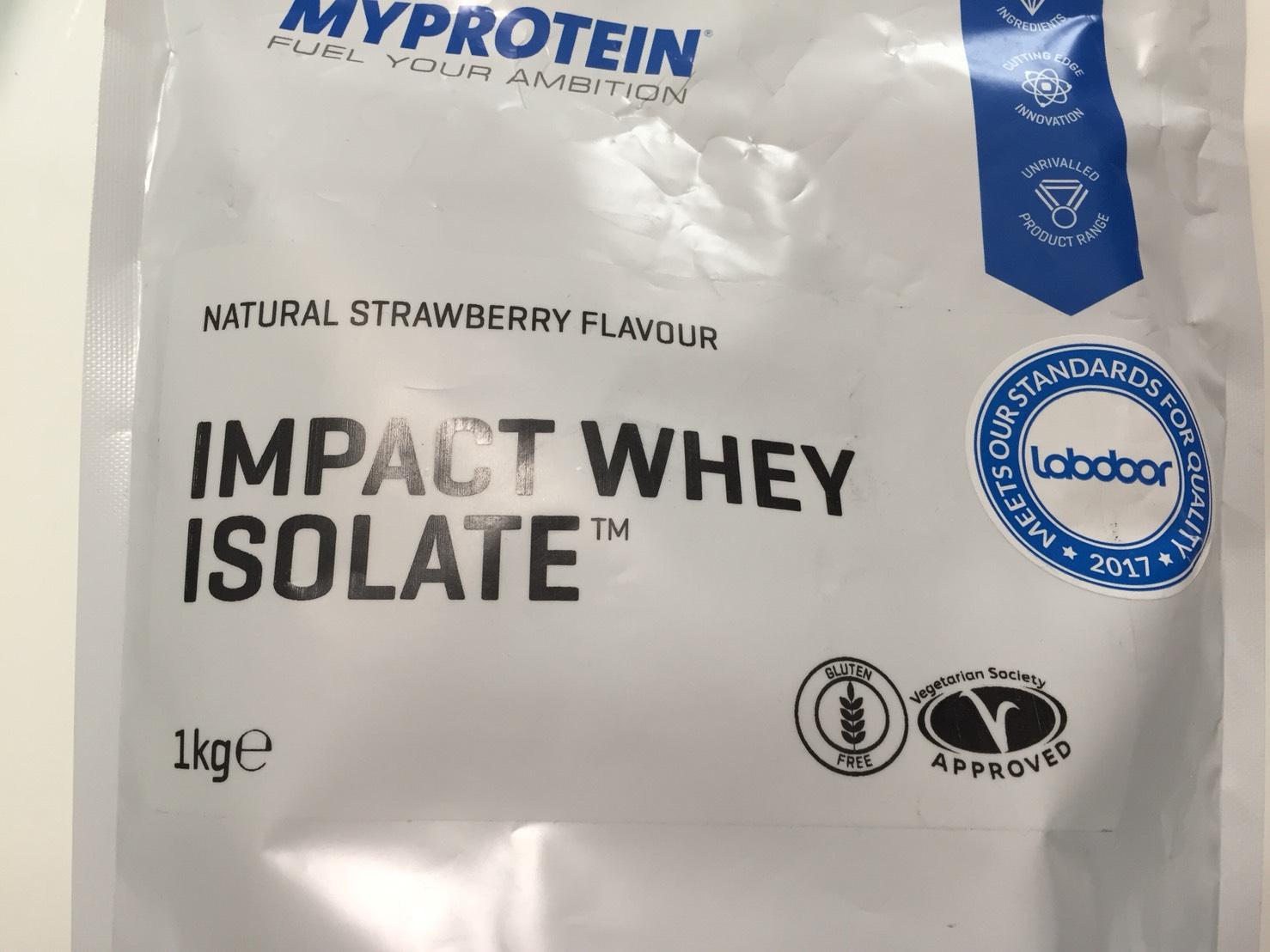 【WPI】IMPACT 分離ホエイプロテイン (アイソレート)「NATURAL STRAWBERRY FLAVOUR(ナチュラルストロベリー味)」