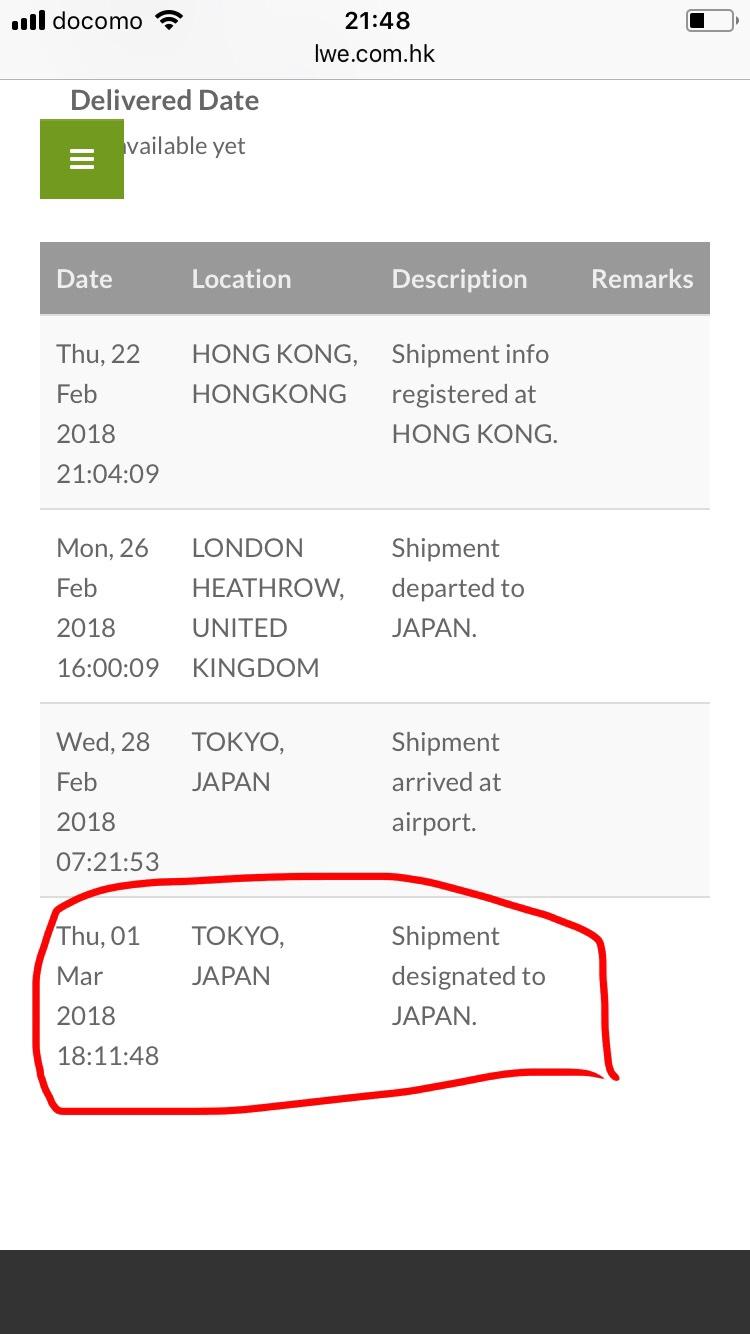 3月1日に東京に到着したと書かれているだけで、あとの情報はありませんでした。