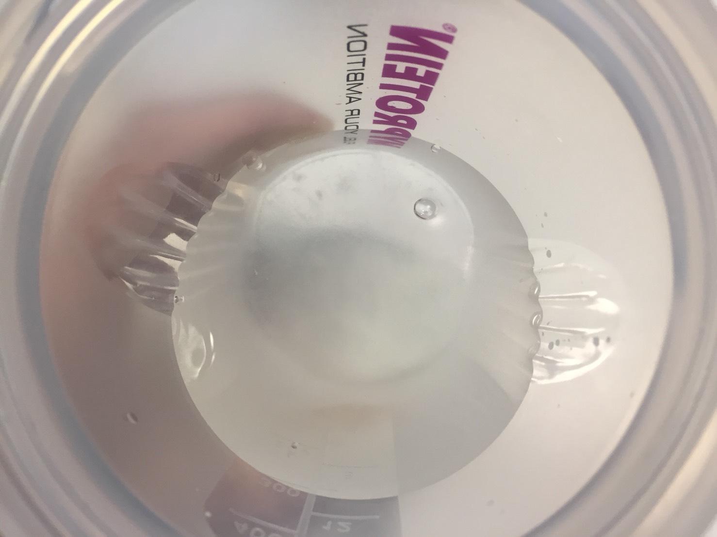 水を注いだ直後の様子