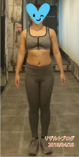 リカさん(27歳)の現在の身体【体重:50.4kg(-2.0kg)体脂肪率:26.2%(-2.6%)】