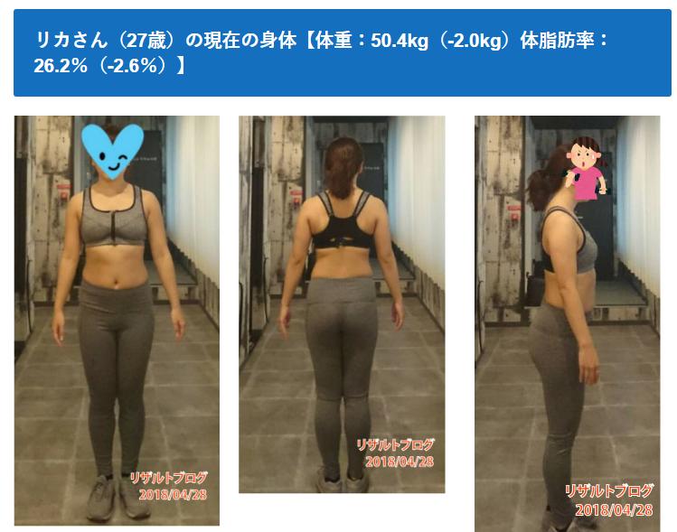 2週間で体重-2.0kg、体脂肪率-2.6%を達成!実際にやったダイエット法を公開【リアルタイムダイエット企画02_リカさん】