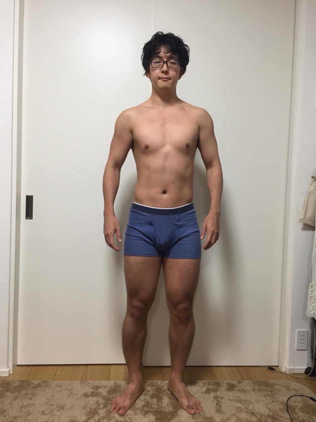 2018年6月14日:体重:75.85kg 体脂肪率:15.1%の正面の様子