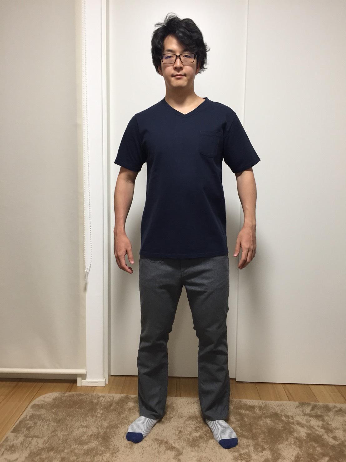 パターン1のTシャツの状態