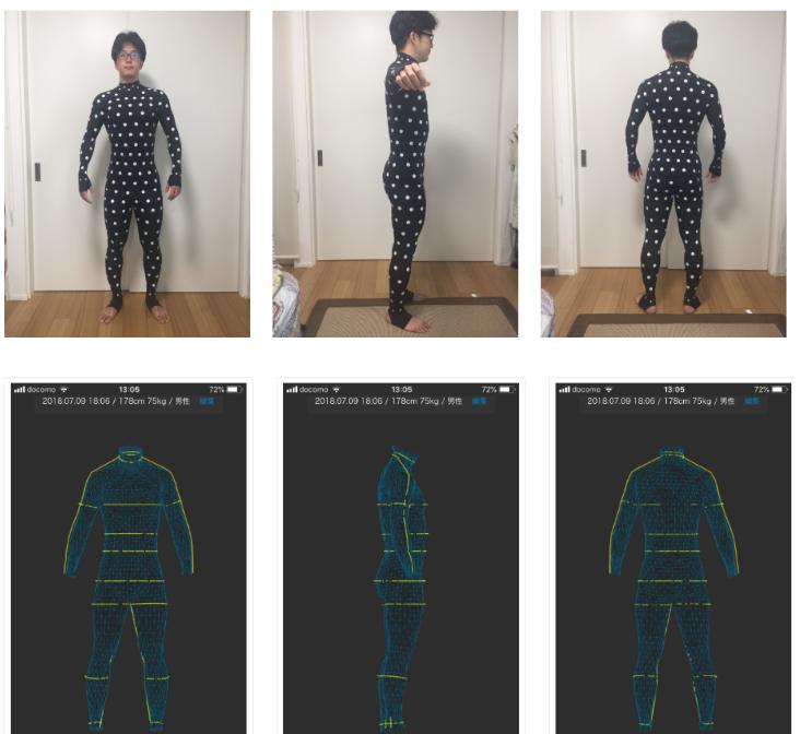 ようやくZOZOスーツが届いたので、計測値に対して実測値を出してみました。想像以上に精度が高いです