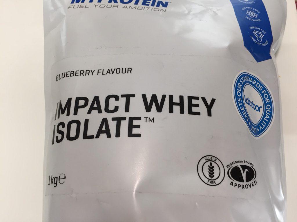 【WPI】Impactホエイアイソレート「BLUEBERRY FLAVOUR(ブルーベリー味)」