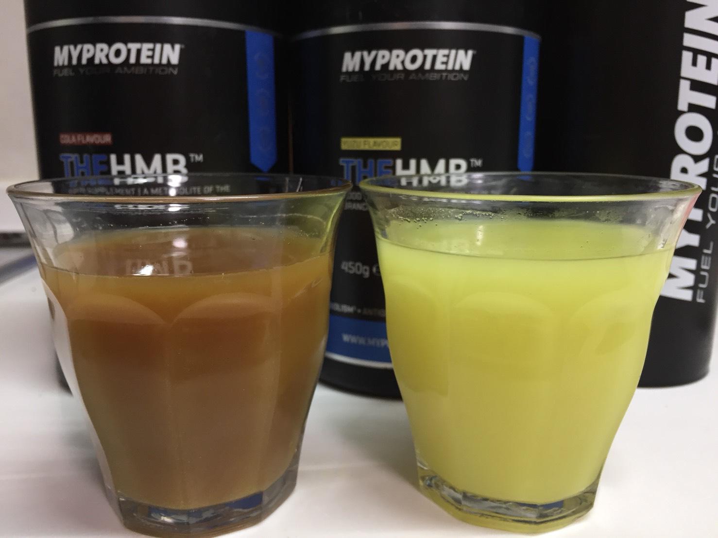 マイプロテインのTHE HMBをレビュー。ゆず味、コーラ味とも後味に激しい苦みが…不味いのでおすすめできない。