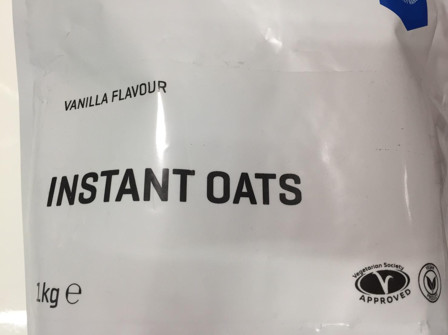 マイプロテイン「インスタントオーツ バニラ味」