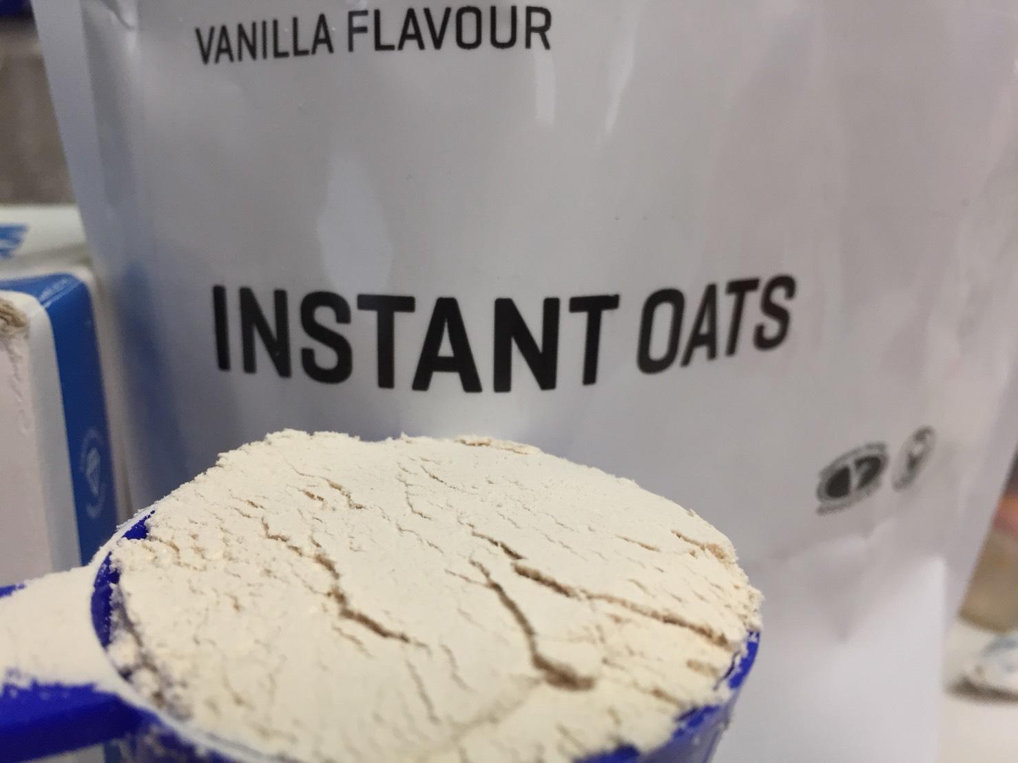 インスタントオーツバニラ味の粉末の様子