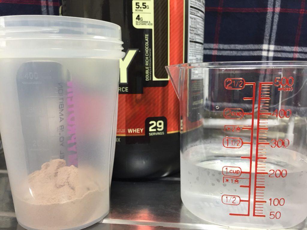 ダブルリッチチョコレート味を200mlの水で溶かした場合