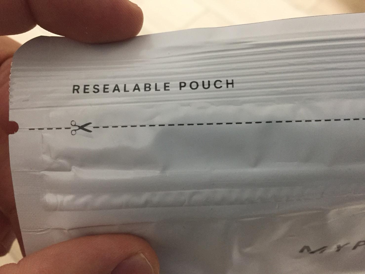 新パッケージの開封部分の様子