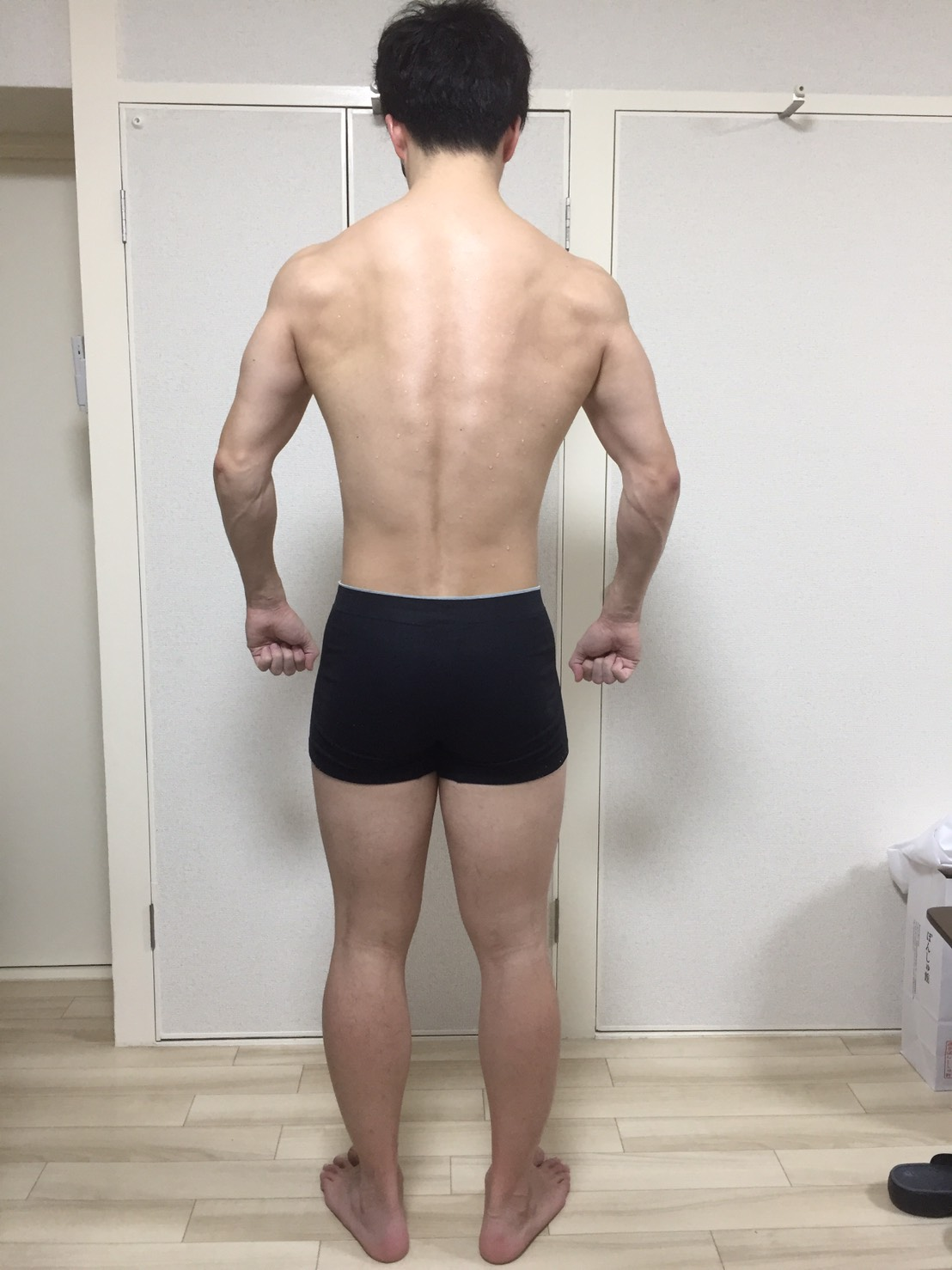 2019年3月18日の身体の様子(体重74.4kg、体脂肪率12.6%)