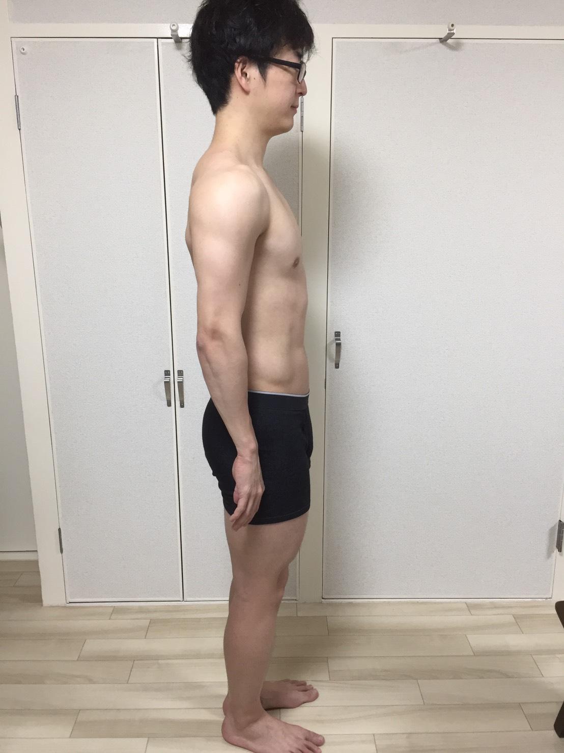 2019年3月26日の身体の様子(側面)