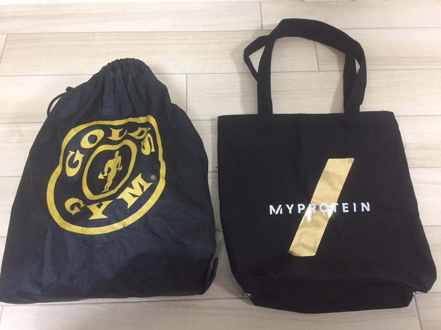 ジム内バッグの比較