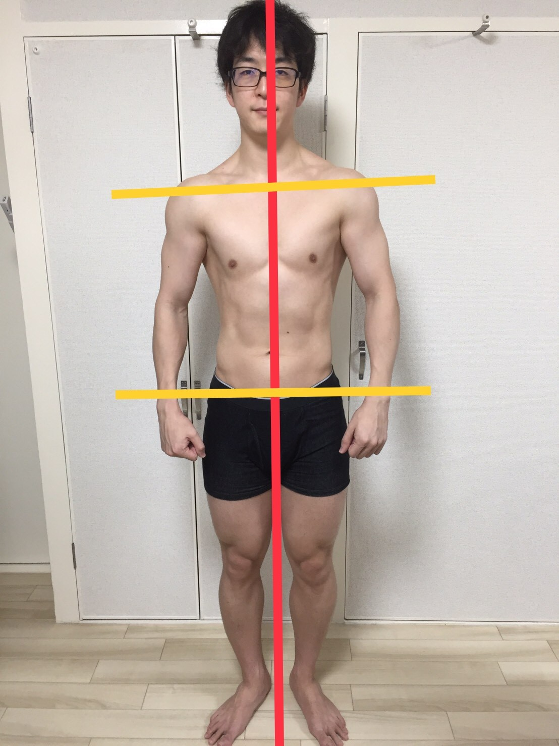 2019年3月-身体正面の写真