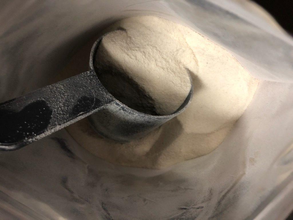 ストロベリー&クリーム味の様子
