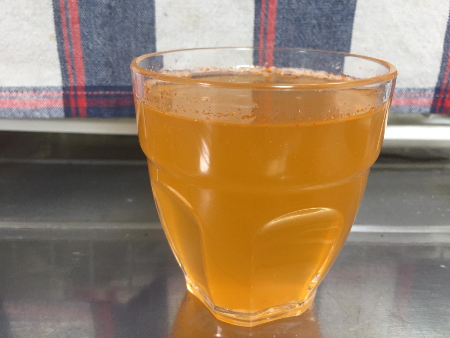オレンジマンゴー味(ORANGE MANGO)をしばらく置いておいた様子