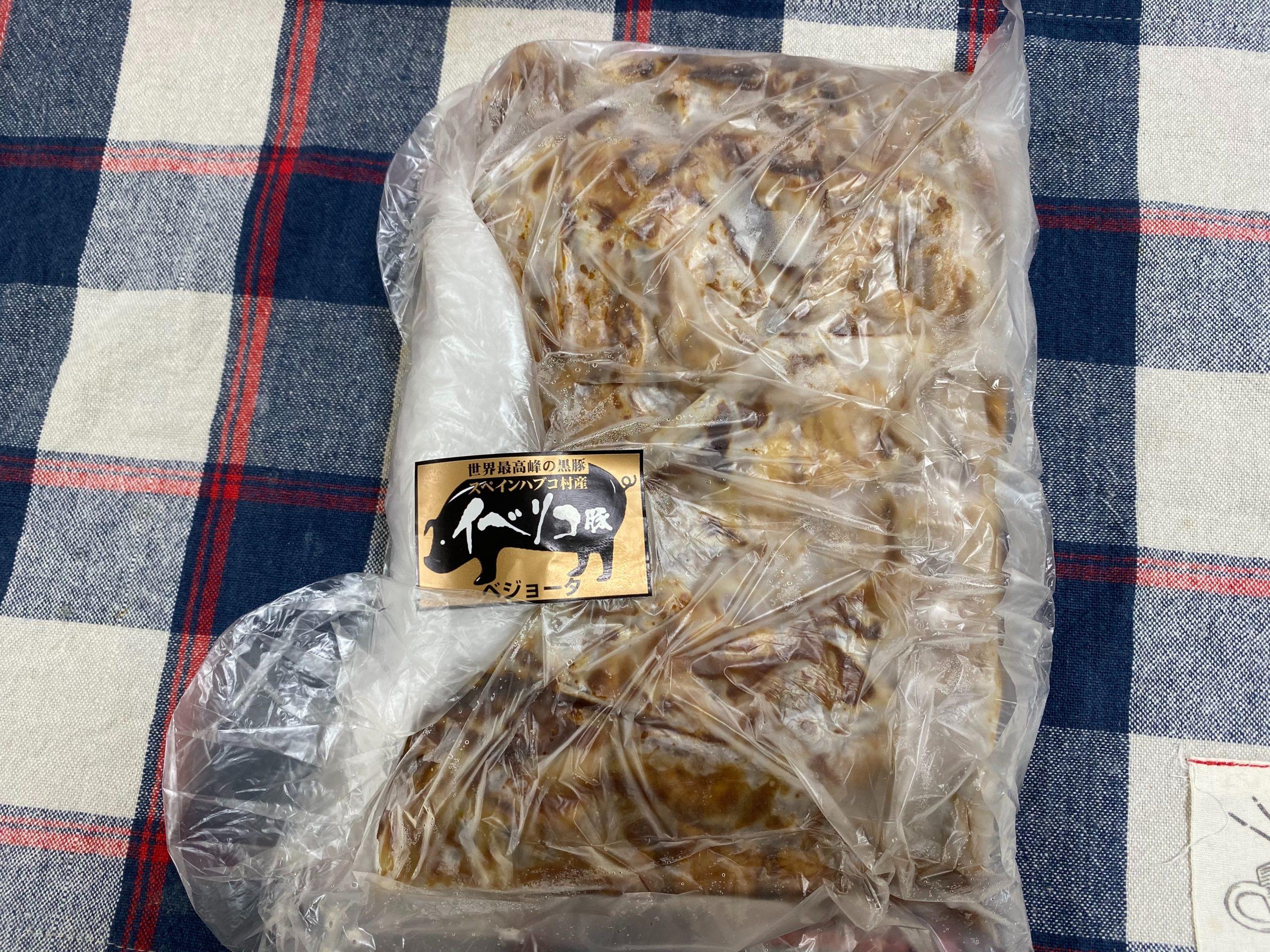 イベリコ豚重の具はシンプルな包装で届きます