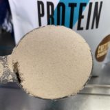 【WPC】Impactホエイプロテイン「チェストナッツチョコレート味」の粉末の様子
