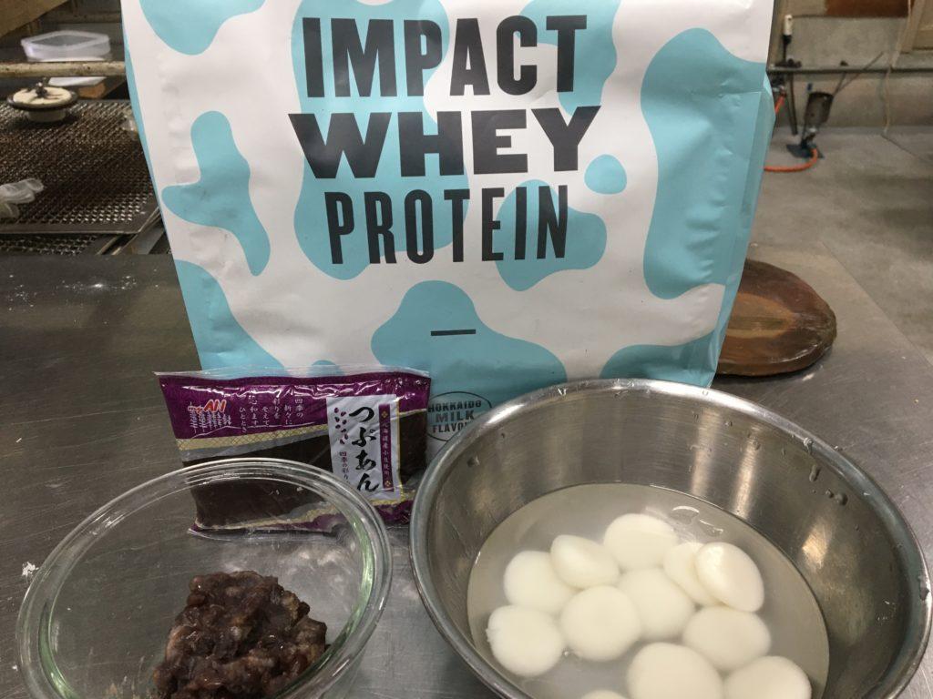 プロテイン白玉クリームぜんざいの材料と栄養素