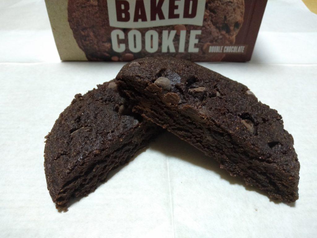 チョコレート味の断面の様子