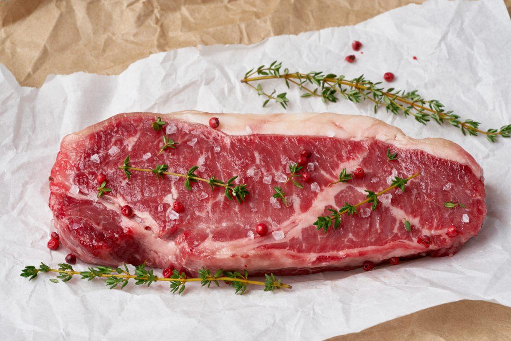 牛サーロイン:298kcal (タンパク質 17.4g・脂質 23.7g)