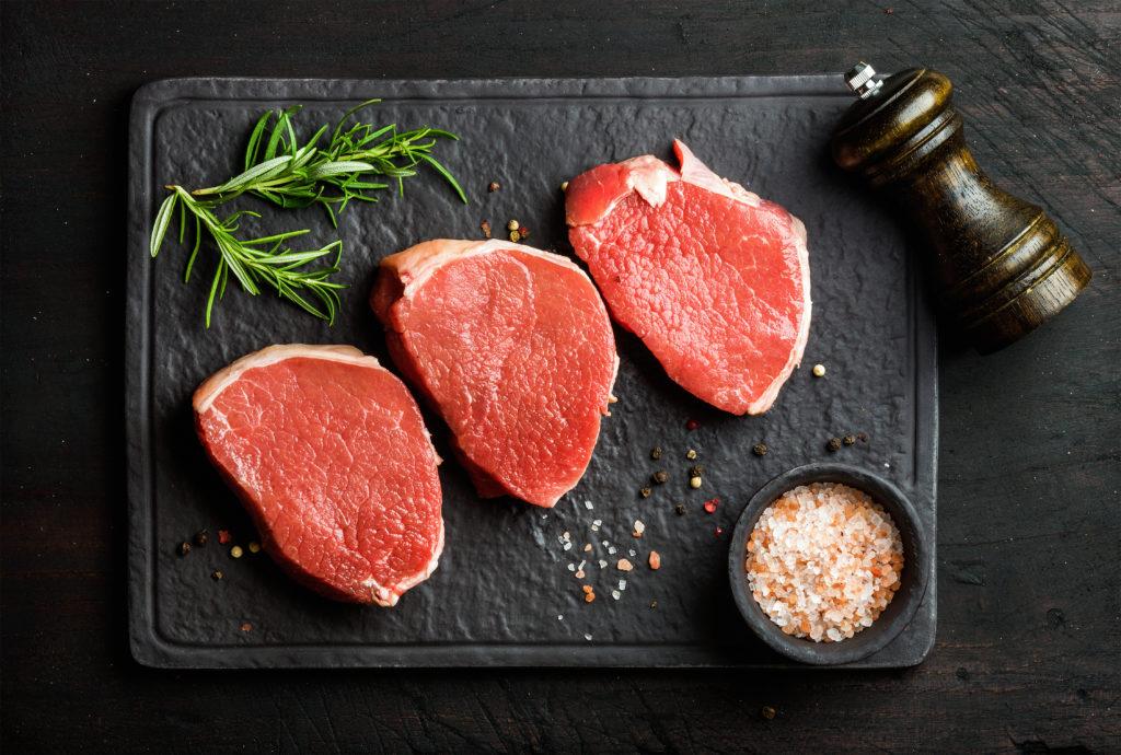 牛モモ:140kcal (タンパク質 22.5g・脂質 4.6g)