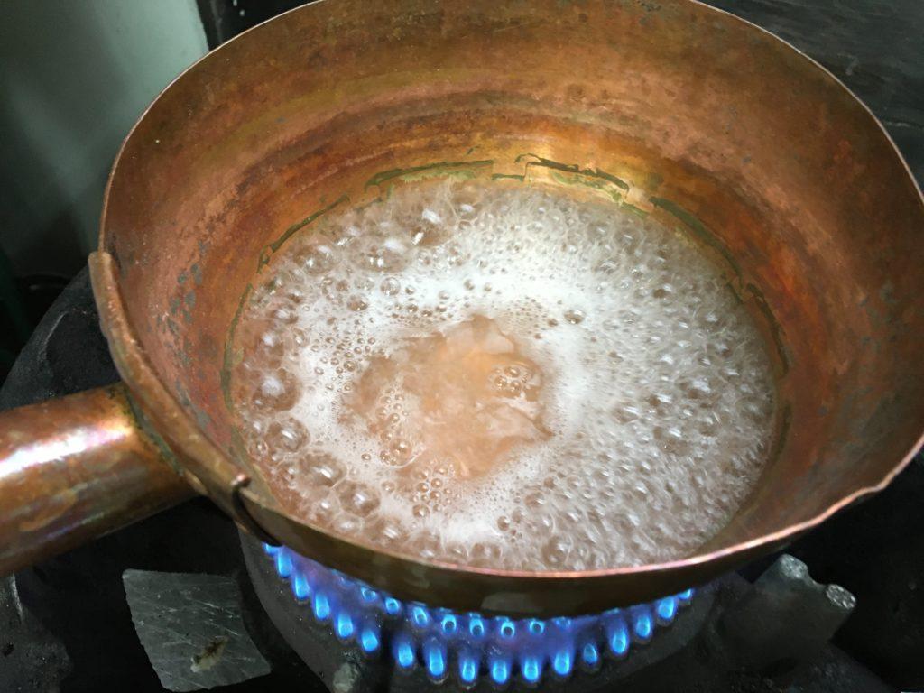 沸騰したら火を止める